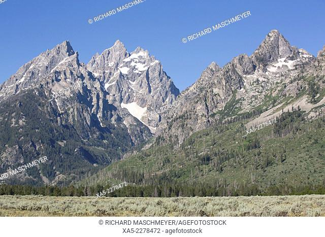 The Cathedral Group, Teton Range, Grand Teton National Park, Wyoming, USA