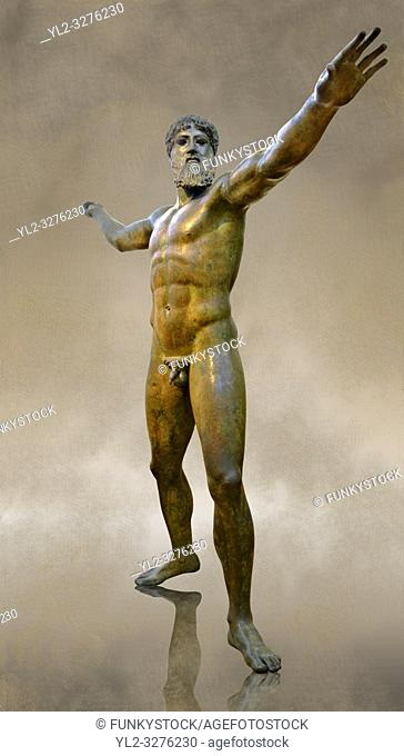Greek Classical Period Bronze Statue of Zeus or Poseidon found in the sea of Cape Artemision of the north Eastern Euboea Island, Greece