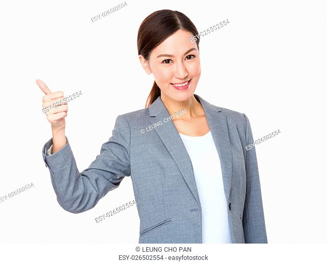 Beautiful Businesswoman showing thumb up