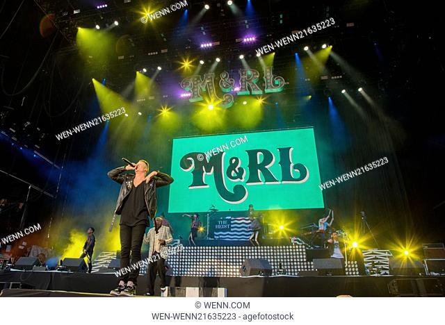 Leeds Festival 2014 at Bramham Park - Day 1 - Performances Featuring: Macklemore Where: Leeds, United Kingdom When: 22 Aug 2014 Credit: WENN.com