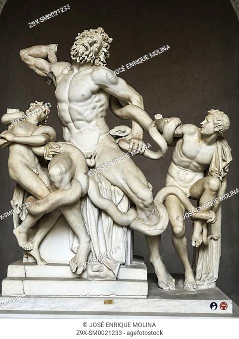 Pio Clementino Museum of Roman Art, statue of Laocoön, Vatican museum, Rome, Italy