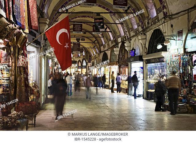 Inside the Grand Bazaar, Istanbul, Turkey