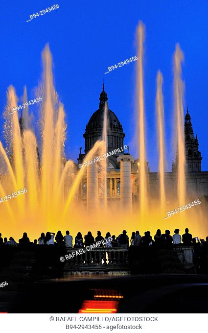 Magic Fountain of Montjuïc, Font Mágica de Montjuic, constructed for the 1929 Barcelona International Exposition, designed by Carles Buigas