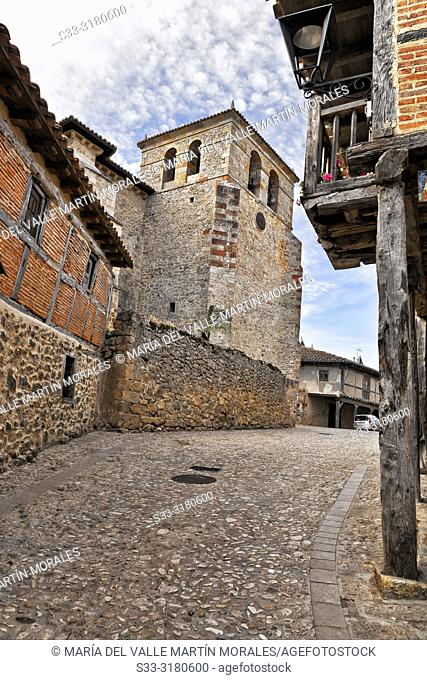 Church in Calatañazor. Soria. Castilla León. Spain. Europe