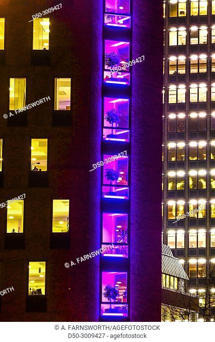 STOCKHOLM, SWEDEN. Modern and colored office buildings on Kungsholmen