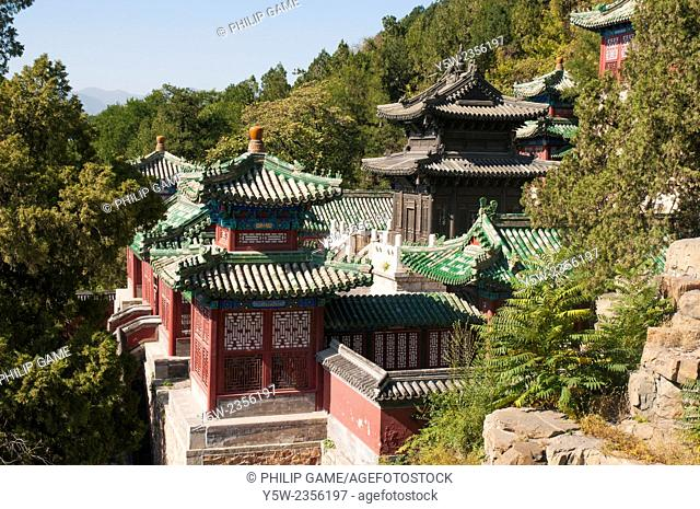 Buildings overlooking Kunming Lake at the Summer Palace, Beijing