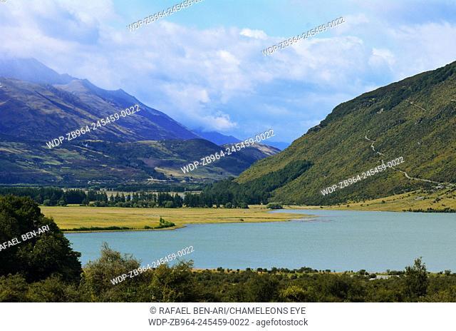 landscape of the diamond lake near Glenorchy in the south Island, New Zealand.Photo by Rafael Ben-Ari/Chameleons Eye