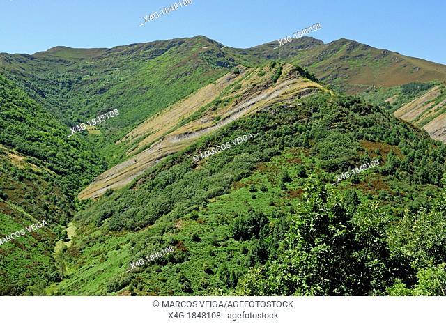 Slopes of the Mount Formigueiros in O Courel mountain range  Galicia, Spain
