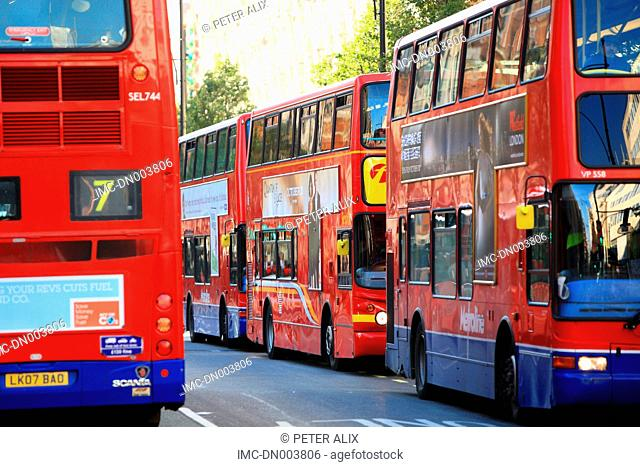 England, London, red bus