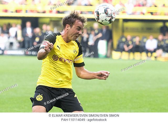 Marco REUS (DO) with Ball, single action with ball, action, header, heads the ball, kv? Pft, half figure, half figure, football 1. Bundesliga, 7