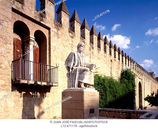 Monument to Averroes and walls, Córdoba, Spain