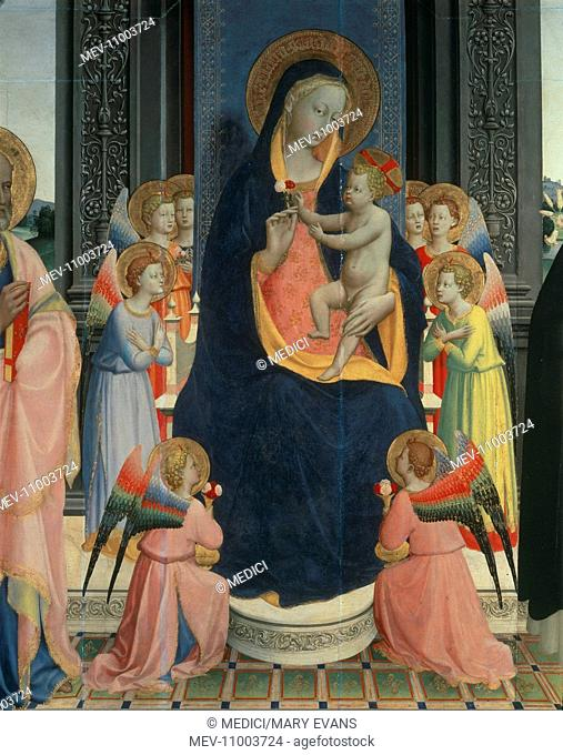 Virgin and Child with Eight Angels – detail of an Alterpiece