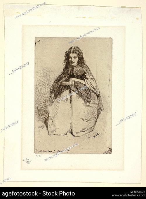 Fumette - 1858 - James McNeill Whistler American, 1834-1903 - Artist: James McNeill Whistler, Origin: United States, Date: 1858