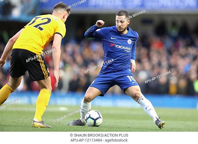 2019 EPL Premier League Football Chelsea v Wolverhampton Wanderers Mar 10th. 10th March 2019, Stamford Bridge, London, England; EPL Premier League football