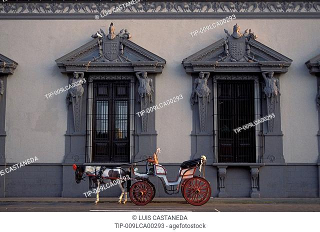 Mexico,Yucatan, Merida, building and carriage The Montejo House