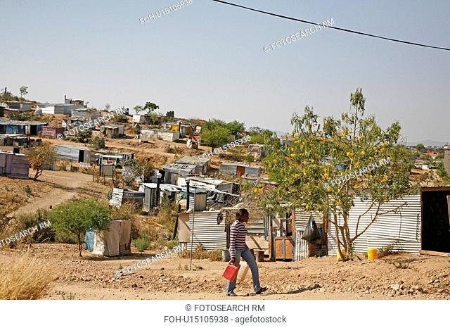 settlements, person, squatter, shantytown, namibia, people