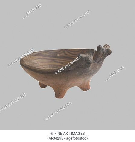 Zoomorphic Bowl by Prehistoric Russian Culture /Clay, paint/Ancient Cultur/3800-3600 BC/Museum of Russian Art, Minneapolis/Objects/Archaeology/Zoomorphische...
