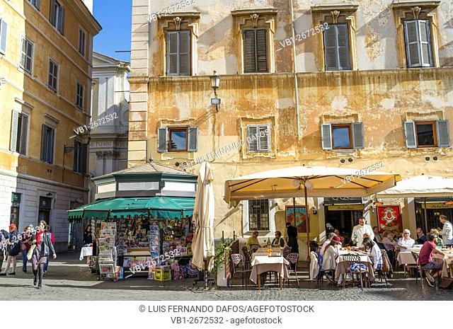 Alfresco restaurant in Trastevere, Rome, Italy