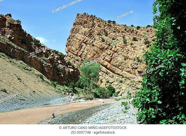 Gorges of M'goun. The High Atlas. Morocco