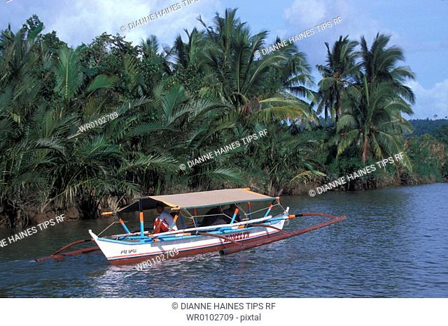 Philippines, Visayas archipelago, Samar island, trimaran