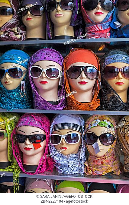 Mannequins in a shop of the Medina. Asilah, Morocco, North Africa
