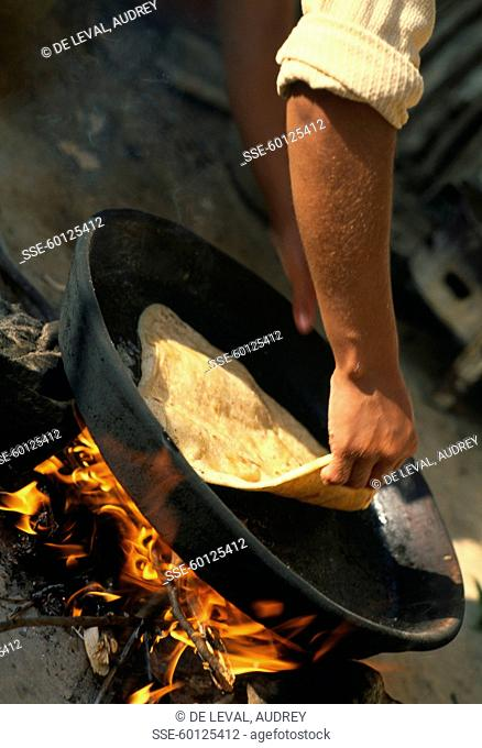 Cooking traditional bread