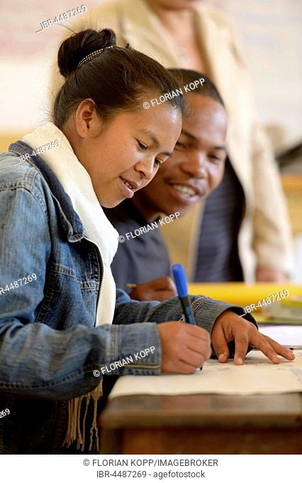 Training course for teachers, man and woman, Fianarantsoa, Madagascar