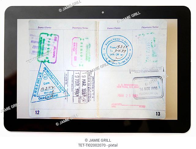 Digital tablet and passport