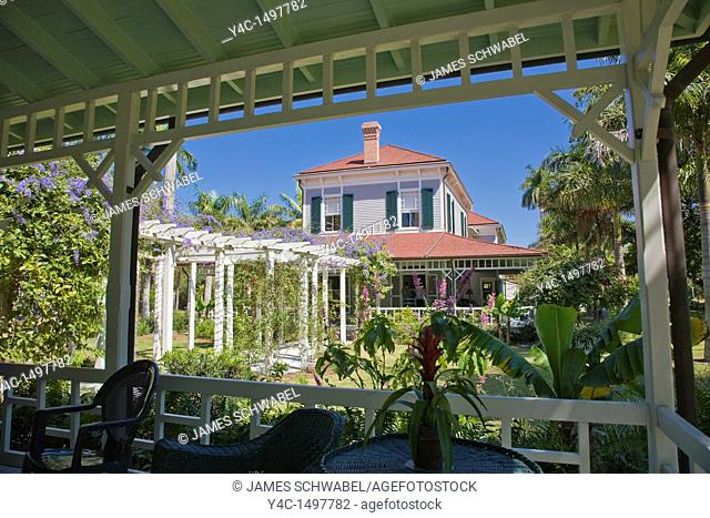 Seminole Lodge Edisons winter home at Edison and Ford Winter Estates in Fort Myers Florida