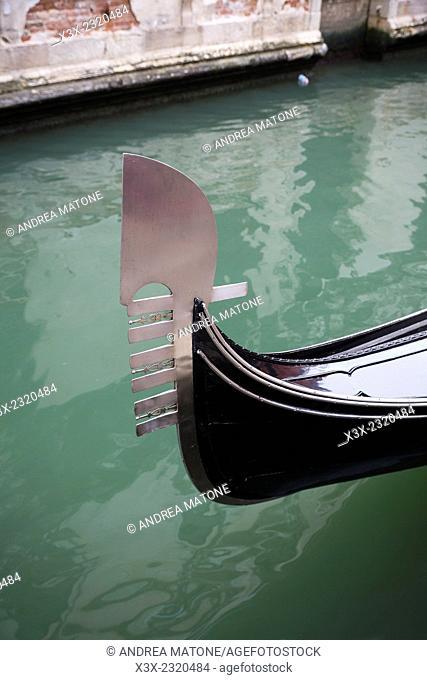 Gondola bow tip. Venice, Italy