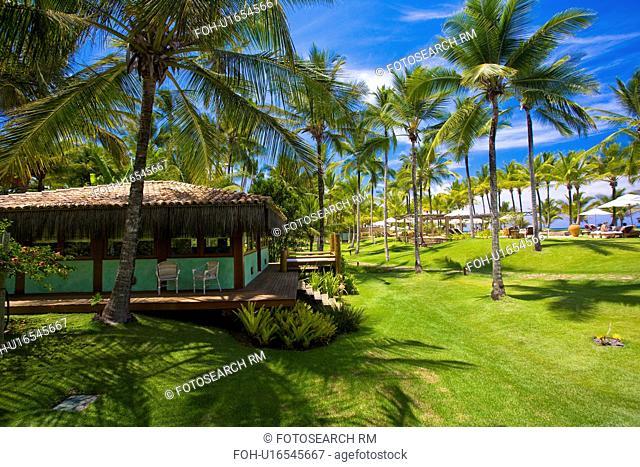 Brazilian hotel gardens by the sea