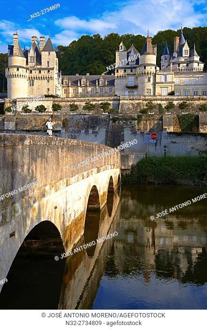 Rigny-Usse, Castle, Chateau de Usse, Usse Castle, Indre-et-Loire, Cycling Itinerary, Pays de la Loire, Loire Valley, UNESCO World Heritage Site, France