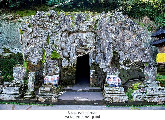 Indonesia, Bali, Entrance gate to the Goa Gajah temple complex