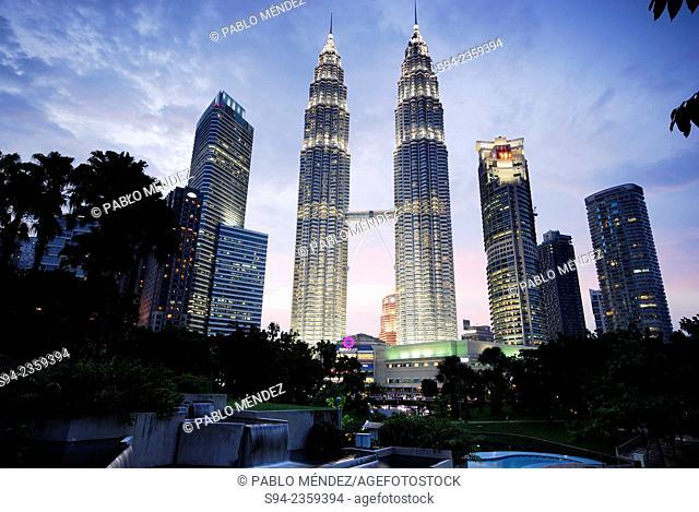 Petronas Twin towers of Kuala Lumpur, Malaysia