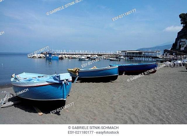 fishing boats in the marina grande in sorrento