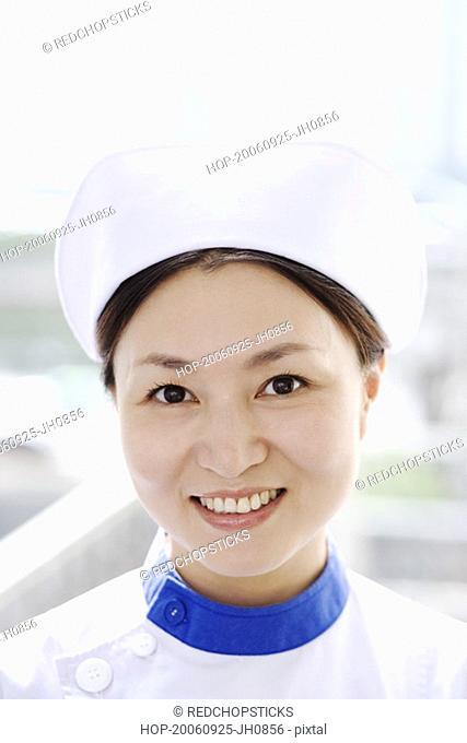 Portrait of a female nurse smiling