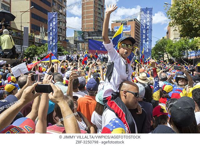 March and rally called for this Tuesday, February 12, by Juan Guaidó, president of the National Assembly sworn in as Acting President of Venezuela with the...