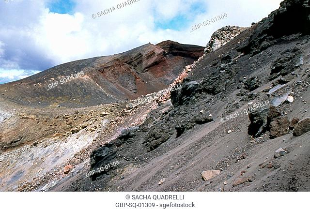 Volcanic formations, Tongariro National Park, North Island, New Zealand