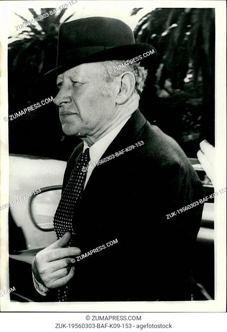 Mar. 03, 1956 - Sir Eugene Goossens Faces indecent pictures Charge famous conductor in Australia: The famous conductor Sir Eugene Goossens faces charges of...