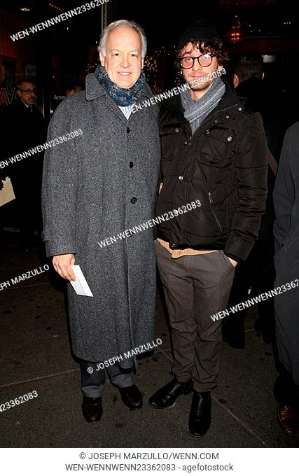 Opening night of Noises Off at the American Airlines Theatre - Arrivals. Featuring: Reed Birney, Ephraim Birney Where: New York, New York