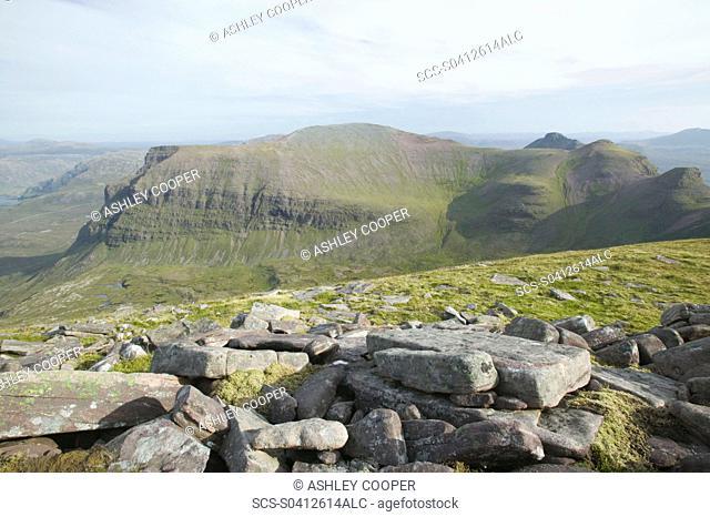 Quinag mountain in Scotland UK