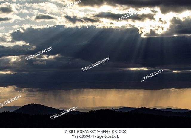 Sunset from Art Loeb Trail near Black Balsam Knob - Blue Ridge Parkway, North Carolina, USA