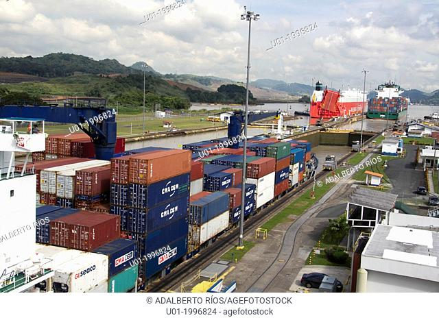 The Panama Canal was built between 1904 and 1914