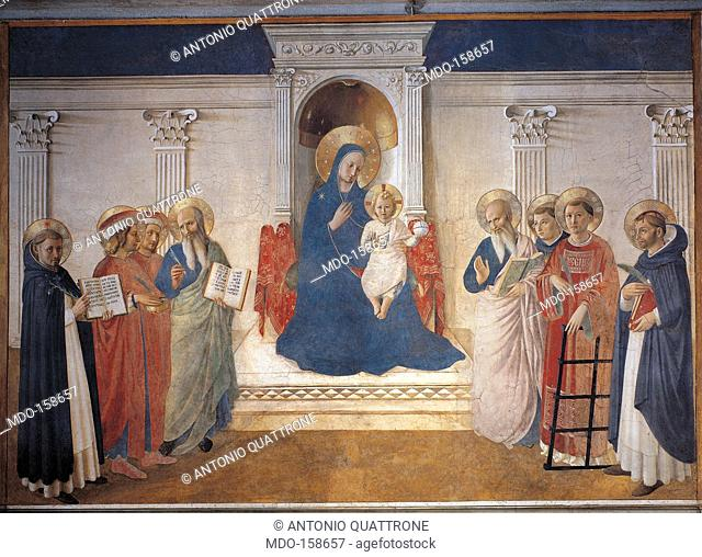 Madonna of the Shadows, by Guido di Pietro (Piero) known as Beato Angelico, 1438 - 1446 about, 15th Century, fresco, . Italy, Tuscany, Florence
