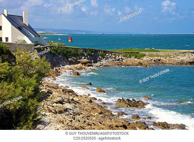 Sentier des Douaniers, Pointe de la Porte, Digosville, near Cherbourg, Cotentin, 50, Normandy France
