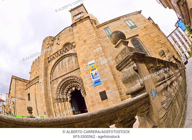 Orense Cathedral,13th Century Romanesque-Gothic Style, Good of Cultural Interest, Historic-Artistic Monument, Orense, Galicia, Spain, Europe