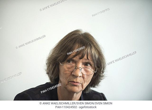 Aleida ASSMANN, Germany, Prize winner, Press Conference Prize winner Peace Prize of the German Book Trade, 12.10.2018 Frankfurt Book Fair 2018 from 10