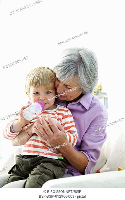 ELDERLY PERSON & CHILD