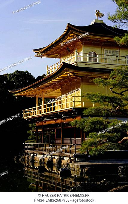 Japan, Honshu island, Kinki district, Kyoto, Kinkaku-Ji, Golden Pavilion, Rokuon-Ji Temple (1397), listed as World Heritage by UNESCO
