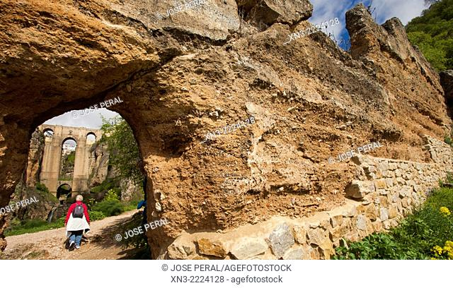 Route to ''El Tajo'' canyon or gorge, Ronda, White Towns, Malaga province, Andalusia, Spain, Europe